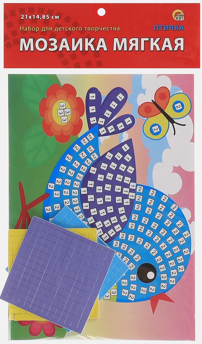 Рыжий Кот Мозаика мягкая ПтичкаМ-4761Мягкая мозаика Рыжий Кот Птичка станет прекрасным подарком для вашего ребенка. Малышу необходимо приклеить к пронумерованным областям на картинке маленькие детали соответствующих цветов. В конце работы получится замечательная картинка с птичкой, гуляющей по зеленому лугу. Выполненный из безопасных материалов, набор привлекает ярким красивым дизайном. Состав набора: пронумерованная цветная основа, цветная самоклеящаяся мозаика трех цветов, выполненная из декоративного мягкого материала ЭВА. Мозаика развивает творческие способности, мелкую моторику рук, цветовое восприятие, внимание и художественный вкус!