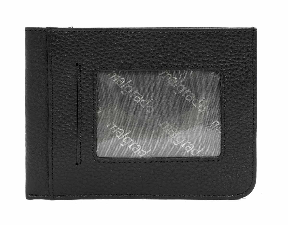 Визитница мужская Malgrado, цвет: черный. 31001-5001D31001-5001DМужская визитница от Malgrado выполнена из натуральной зернистой кожи. С одной стороны у модели имеется прозрачное окошко для прав/пропуска и карман побольше для ПТС/карточек. На другой стороне 4 горизонтальных кармашка для карточек и 2 вертикальных кармашка. А также имеется основное горизонтальное отделенеи для денег и других документов/записок.