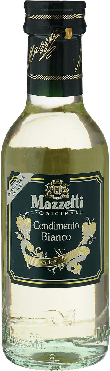 Mazzetti уксус бальзамический белый, 250 мл65105Уксус из белого вина Mazzetti обладает богатым ароматом, идеально подходит для заправки салатов, для белого мяса, рыбы и для создания светлых соусов. Появление осадка или легкое замутнение цвета является естественным процессом, не влияющим на качество продукта. Уважаемые клиенты! Обращаем ваше внимание, что полный перечень состава продукта представлен на дополнительном изображении.