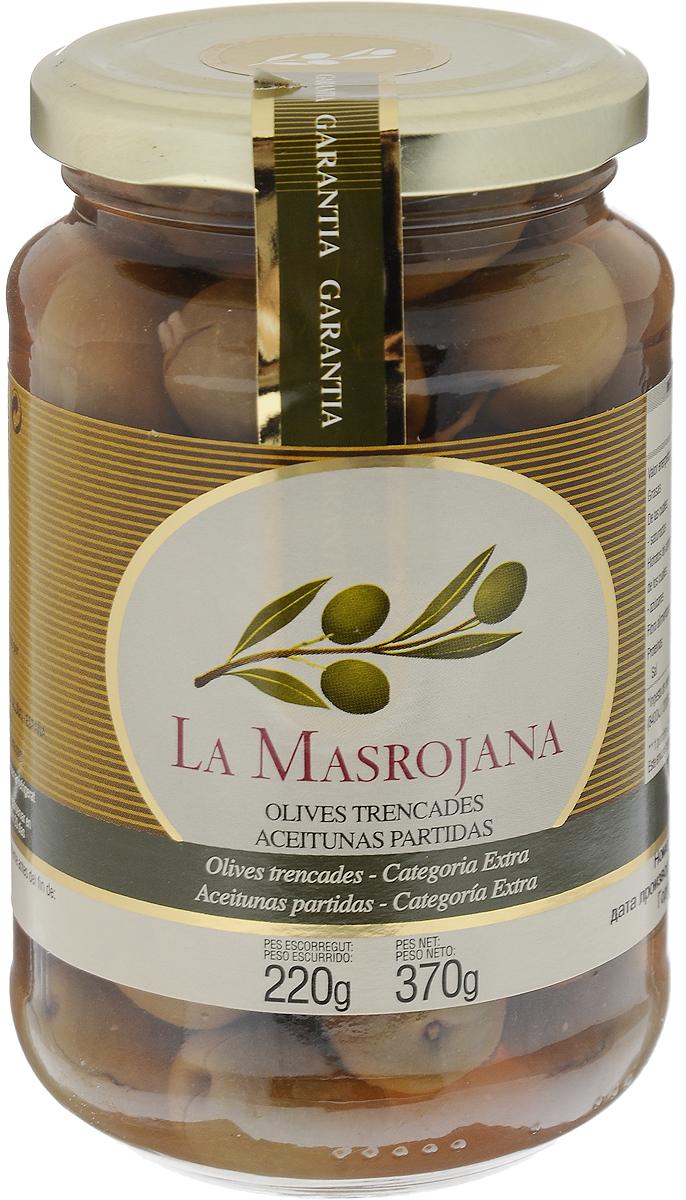 La Masrojana Оливки раздавленные Веридаль с косточкой, 370 г 8420642001609
