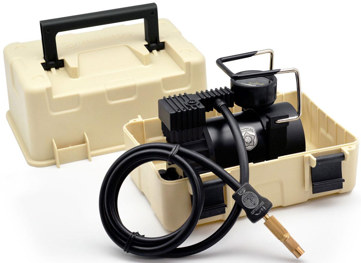 Автомобильный компрессор BERKUT SPEC-15SPEC-15Автомобильный компрессор BERKUT Specialist (модель: SPEC-15) предназначен для накачивания шин автомобилей и других транспортных средств. Главной особенностью устройства является его интеграция в пластиковый милитари-бокс, который позволяет эксплуатировать компрессор в экстремальных условиях и значительно упрощается его хранение и транспортировку. В компрессор внедрена новая поршневая группа, благодаря чему его производительность выросла до 44 л/мин. SPEC-15 маркируется специальной юбилейной эмблемой и выпускается ограниченной партией.