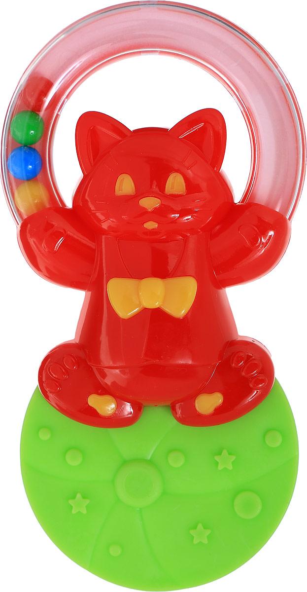 Stellar Погремушка-прорезыватель Жонглер Котик1576_красная кошка, салатовый, 01576Погремушка-прорезыватель Stellar Жонглер, выполненная из безопасных материалов, представляет собой фигурку красного котика, с одной стороны которой находится кольцо, а с другой - прорезыватель. Внутри кольца находятся разноцветные шарики, которые приятно гремят при тряске. Рельефная поверхность прорезывателя мягко массирует десны малыша и уменьшает дискомфорт при появлении зубов. Погремушка-прорезыватель развивает мелкую моторику рук, воображение, концентрацию внимания и цветовое восприятие малыша.