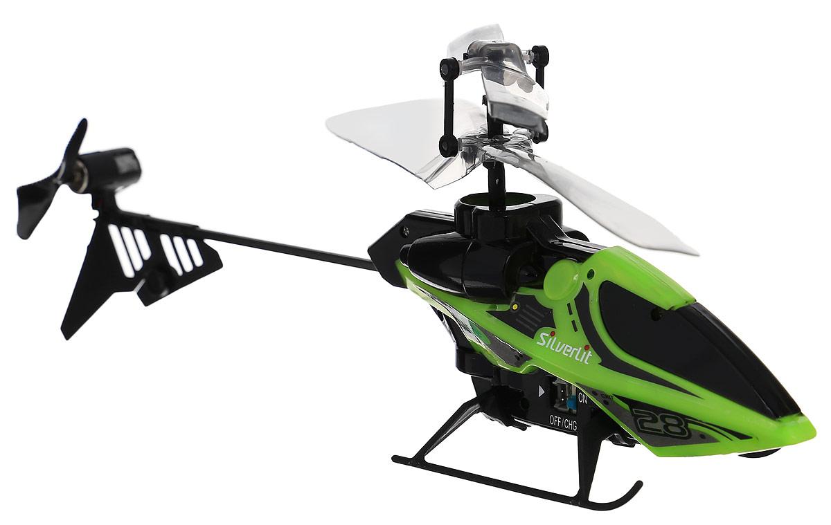 Silverlit Вертолет на инфракрасном управлении цвет черный салатовый84689_Черный,салатовыйВертолет на инфракрасном управлении Silverlit привлечет внимание не только ребенка, но и взрослого, и станет отличным подарком любителю воздушной техники. Вертолет имеет двухканальное дистанционное управление. Возможные движения: вверх, вниз, вправо, влево. Сверхточное цифровое пропорциональное управление позволяет совершать самые невероятные маневры. Модель вертолета идеально подходит для игры внутри помещения. Каждый полет вертолета будет максимально комфортным и принесет вам яркие впечатления! Модель выполнена из прочного пластика с элементами из металла. В комплекте: вертолет, пульт управления, два запасных хвостовых винта, кабель зарядного устройства, алюминиевые накладки, приспособление для замены хвостового пропеллера, инструкция по эксплуатации на русском языке. Вертолет работает от встроенного аккумулятора. Заряжается аккумулятор с помощью пульта дистанционного управления. Время зарядки: 20-30 минут. Время работы игрушки с полностью заряженным...
