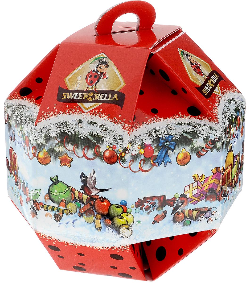 Sweeterella Новогодний шарик конфеты шоколадные, 138 гиба023Sweeterella Новогодний шарик с шоколадным вложением – настоящая находка в качестве подарка! Вкусными шоколадными конфетами можно украсить елку или угостить гостей. Каждая конфета внутри упакована во флоу-пак пленку, что позволяет сохранить свежесть продукта и его внешний вид. Уважаемые клиенты! Обращаем ваше внимание, что полный перечень состава продукта представлен на дополнительном изображении.