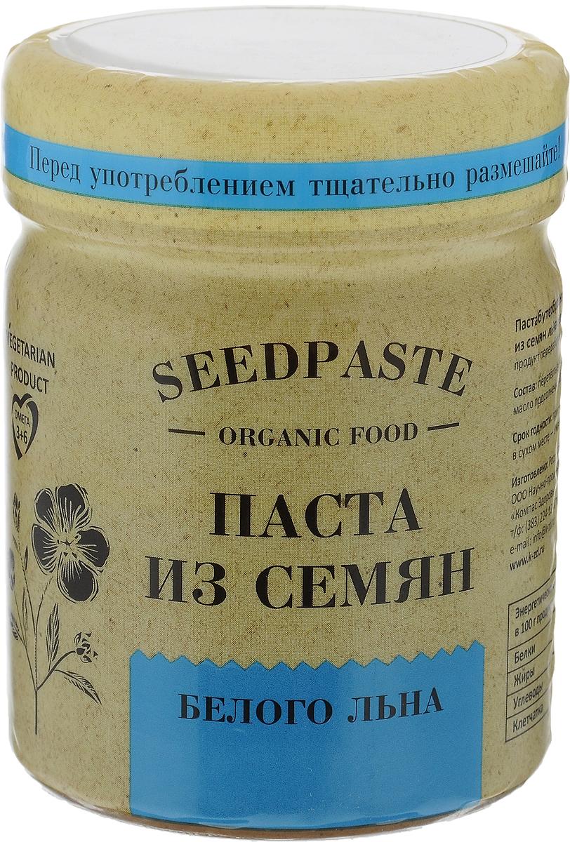 Компас Здоровья Из семян льна белого паста, 200 гУТ000003296Паста из семян белого льна Компас Здоровья вкусный источник клетчатки, жизненно важных кремния и железа. Особенно полезна эта паста для женщин. Высокое содержание фитостеринов помогает справиться с климаксом, препятствует старению, повышает противоопухолевую защиту.