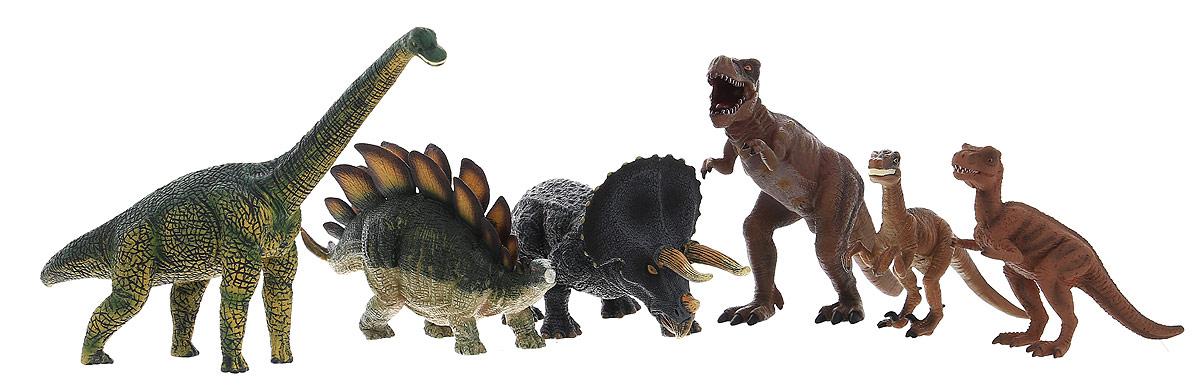 Mojo Набор фигурок Динозавры 6 шт387333Набор фигурок Mojo Динозавры познакомит вашего ребенка с окружающим миром. В набор входит шесть фигурок динозавров, которые имеют высокую степень сходства с настоящими животными и очень высокую детализацию, что позволяет использовать фигурки не только как игровые, но и как коллекционные. Кроме того, фигурки можно использовать в качестве наглядного пособия при изучении животного мира. Фигурки изготовлены из качественного и безопасного материала, не токсичны и не вызывают аллергию.