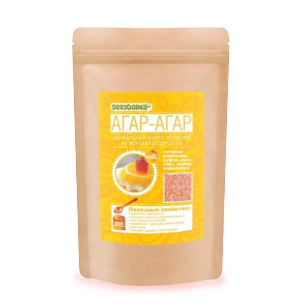 Seryogina, Агар-агар, 170 г542Агар-агар – штука простая и веганская. Торт «Птичье молоко» знаете? Где в рецепте желатин, там применяем растительный агар (из водорослей), и фигуру сохраним. Водоросли, дающие агар-агар, необычайно богаты йодом, кальцием, железом и другими ценными веществами и микроэлементами. У агара нет ни вкуса, ни запаха, у ваших кулинарных шедевров не будет постороннего привкуса. Агар-агар содержит практически ноль калорий. Разбухающая субстанция агара не разлагается в кишечнике, так как очень быстро проходит через него. Зато активно стимулирует перистальтику. Агар-агар выводит из организма токсины и шлаки, удаляет вредные вещества из печени (а здоровая печень - залог и общего здоровья!). Агар используют при производстве мармелада, панна-коты, суфле, мусса, чизкейка, желе, при изготовлении мороженого, где он предотвращает образование кристалликов льда, а также при осветлении соков. Агар-агар полностью растворяется только при температурах выше 90 градусов. При охлаждении до температур 35-40...
