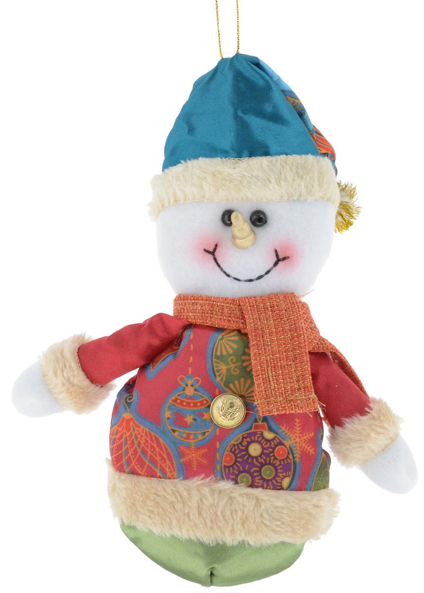 Украшение новогоднее подвесное Win Max Снеговик, высота 18 см175829_CНовогоднее подвесное украшение Win Max Снеговик, выполненное из синтепона и текстиля, прекрасно подойдет для праздничного декора дома. С помощью специальной петельки украшение можно подвесить в любом понравившемся вам месте. Новогодние украшения несут в себе волшебство и красоту праздника. Они помогут вам украсить дом к предстоящим праздникам и оживить интерьер по вашему вкусу. Создайте в доме атмосферу тепла, веселья и радости, украшая его всей семьей.