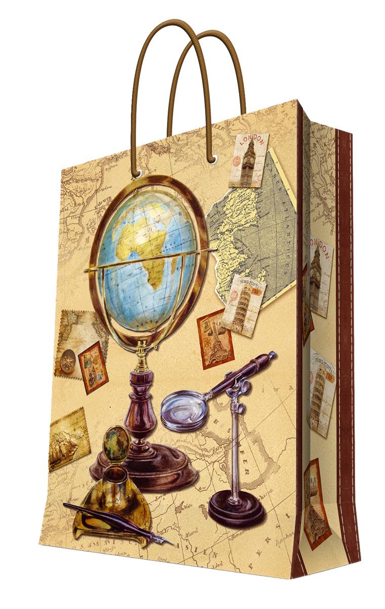 Пакет подарочный Феникс-Презент Глобус, 26 х 12,7 х 32,4 см39666Подарочный пакет Феникс-презент Глобус, изготовленный из плотной бумаги, станет незаменимым дополнением к выбранному подарку. Дно изделия укреплено картоном, который позволяет сохранить форму пакета и исключает возможность деформации дна под тяжестью подарка. Пакет выполнен с глянцевой ламинацией, что придает ему прочность, а изображению - яркость и насыщенность цветов. Для удобной переноски на пакете имеются две ручки из шнурков. Подарок, преподнесенный в оригинальной упаковке, всегда будет самым эффектным и запоминающимся. Окружите близких людей вниманием и заботой, вручив презент в нарядном, праздничном оформлении. Плотность бумаги: 140 г/м2.