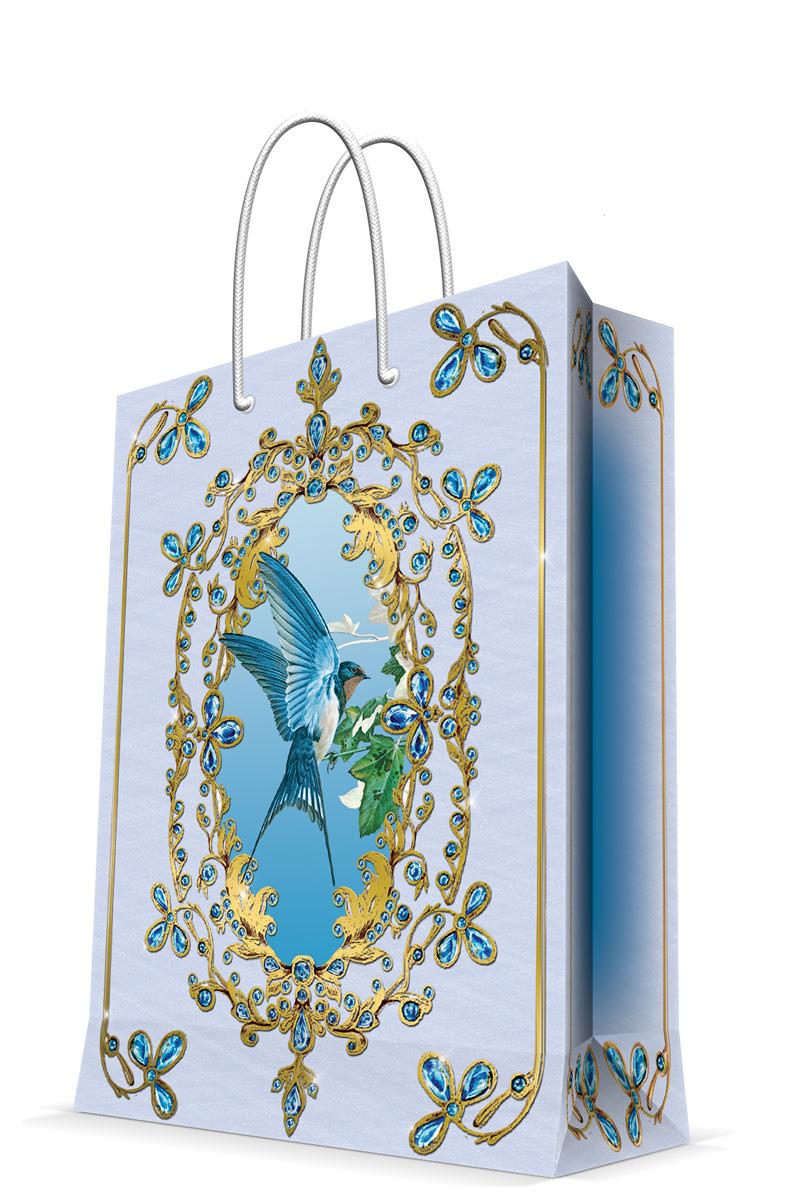 Пакет подарочный Magic Home Ласточка, 17,8 х 22,9 х 9,8 см43505Подарочный пакет Magic Home, изготовленный из плотной бумаги, станет незаменимым дополнением к выбранному подарку. Дно изделия укреплено картоном, который позволяет сохранить форму пакета и исключает возможность деформации дна под тяжестью подарка. Пакет выполнен с глянцевой ламинацией, что придает ему прочность, а изображению - яркость и насыщенность цветов. Для удобной переноски имеются две ручки в виде шнурков. Подарок, преподнесенный в оригинальной упаковке, всегда будет самым эффектным и запоминающимся. Окружите близких людей вниманием и заботой, вручив презент в нарядном, праздничном оформлении. Плотность бумаги: 140 г/м2.