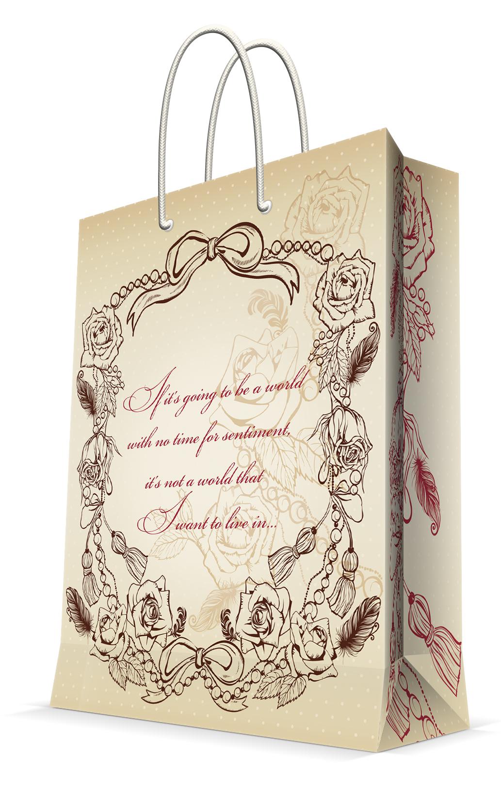 Пакет подарочный Magic Home Виньетка, 17,8 х 22,9 х 9,8 см44173Подарочный пакет Magic Home, изготовленный из плотной бумаги, станет незаменимым дополнением к выбранному подарку. Дно изделия укреплено картоном, который позволяет сохранить форму пакета и исключает возможность деформации дна под тяжестью подарка. Пакет выполнен с глянцевой ламинацией, что придает ему прочность, а изображению - яркость и насыщенность цветов. Для удобной переноски имеются две ручки в виде шнурков. Подарок, преподнесенный в оригинальной упаковке, всегда будет самым эффектным и запоминающимся. Окружите близких людей вниманием и заботой, вручив презент в нарядном, праздничном оформлении. Плотность бумаги: 140 г/м2.