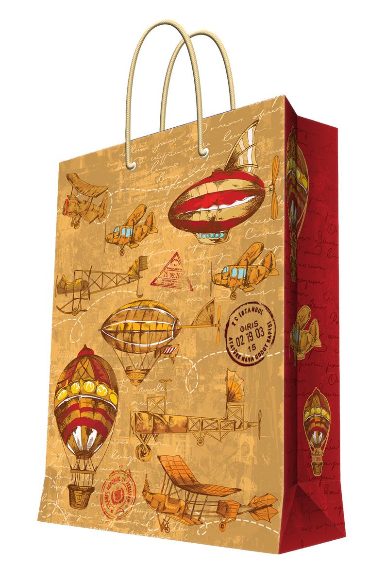 Пакет подарочный Magic Home Самолеты и дирижабли, 26 х 32,4 х 12,7 см44190Подарочный пакет Magic Home, изготовленный из плотной бумаги, станет незаменимым дополнением к выбранному подарку. Дно изделия укреплено картоном, который позволяет сохранить форму пакета и исключает возможность деформации дна под тяжестью подарка. Пакет выполнен с глянцевой ламинацией, что придает ему прочность, а изображению - яркость и насыщенность цветов. Для удобной переноски имеются две ручки в виде шнурков. Подарок, преподнесенный в оригинальной упаковке, всегда будет самым эффектным и запоминающимся. Окружите близких людей вниманием и заботой, вручив презент в нарядном, праздничном оформлении. Плотность бумаги: 140 г/м2.