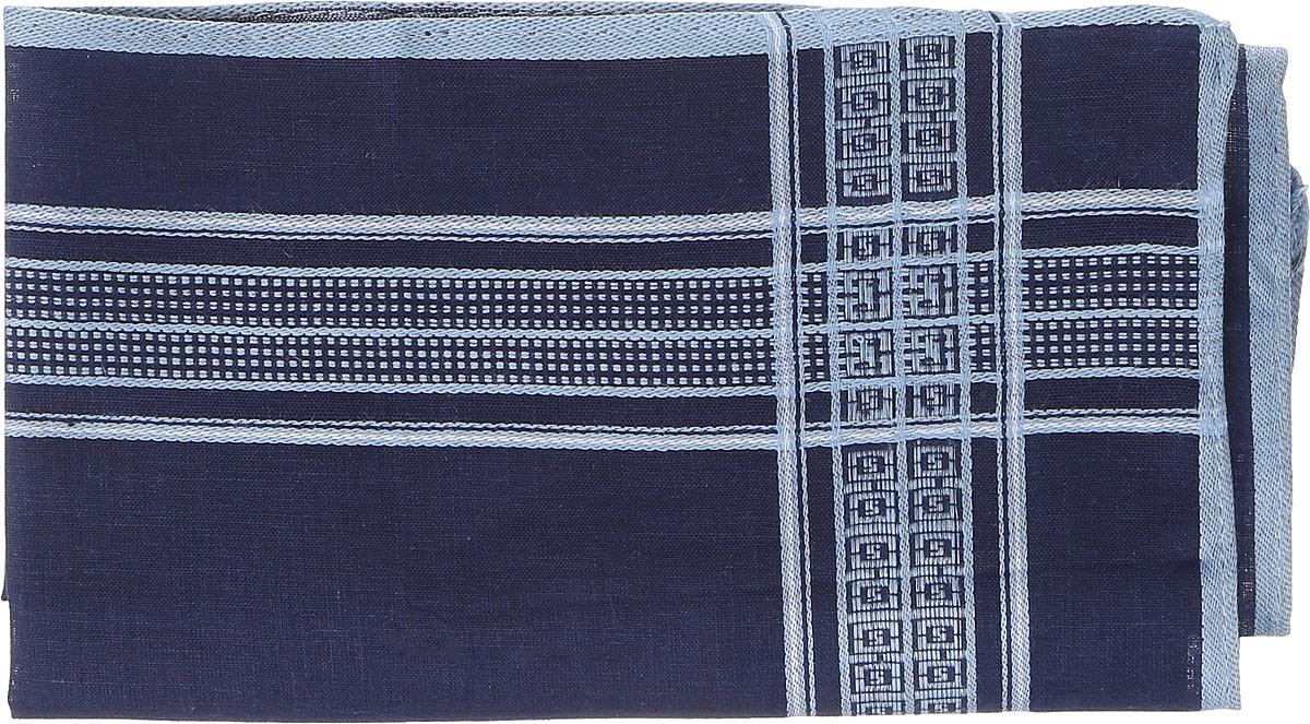 Платок носовой мужской Zlata Korunka, цвет: темно-синий, голубой. 45560. Размер 38 х 38 см45560Платок носовой Zlata Korunka полностью выполнен из натурального хлопка, приятного в использовании. Изделие хорошо стирается, не садится и отлично впитывает влагу.