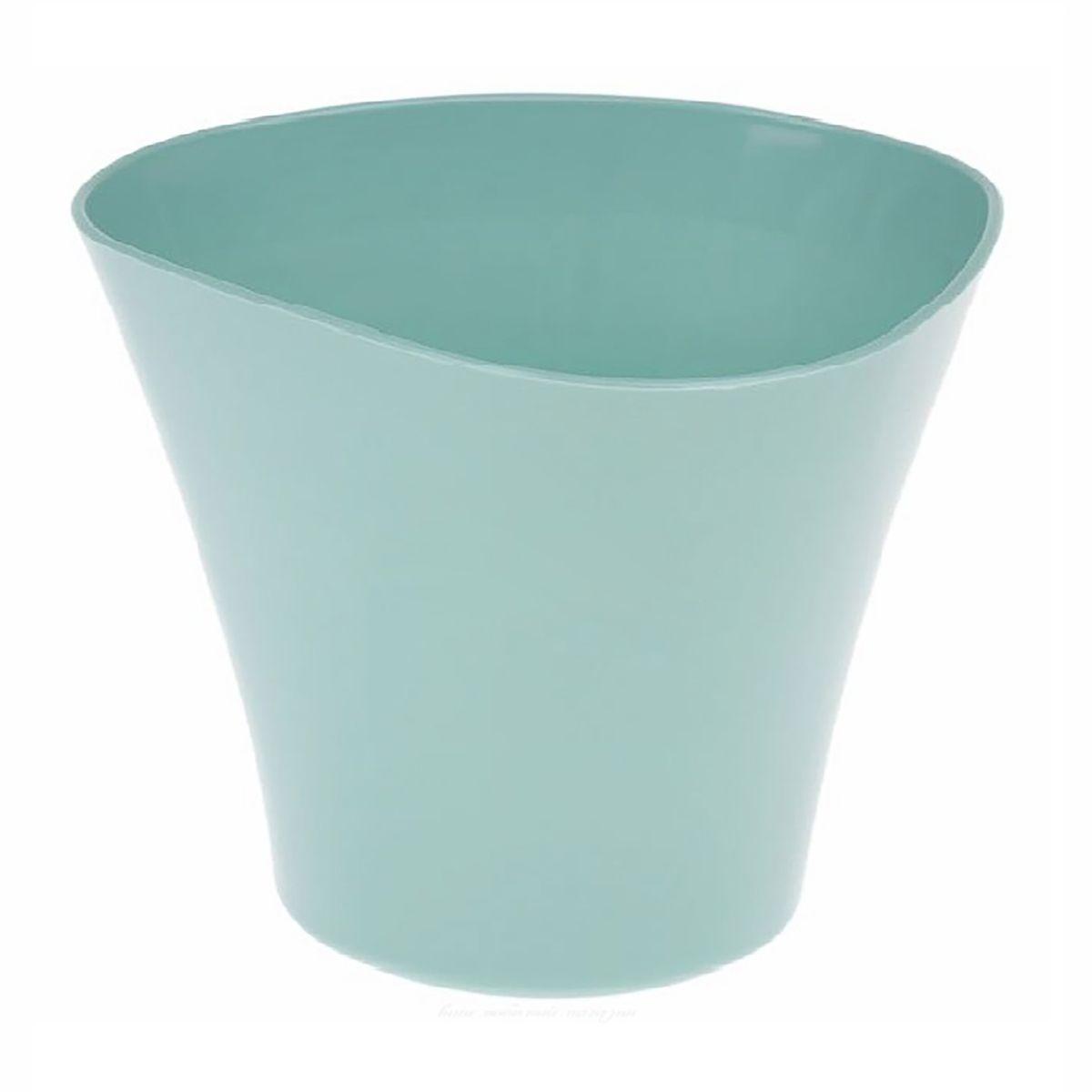 Кашпо JetPlast Волна, цвет: нефритовый, 600 мл4612754051977Кашпо Волна имеет уникальную форму, сочетающуюся как с классическим, так и с современным дизайном интерьера. Оно изготовлено из прочного полипропилена (пластика) и предназначено для выращивания растений, цветов и трав в домашних условиях. Такое кашпо порадует вас функциональностью, а благодаря лаконичному дизайну впишется в любой интерьер помещения. Объем кашпо: 600 мл.