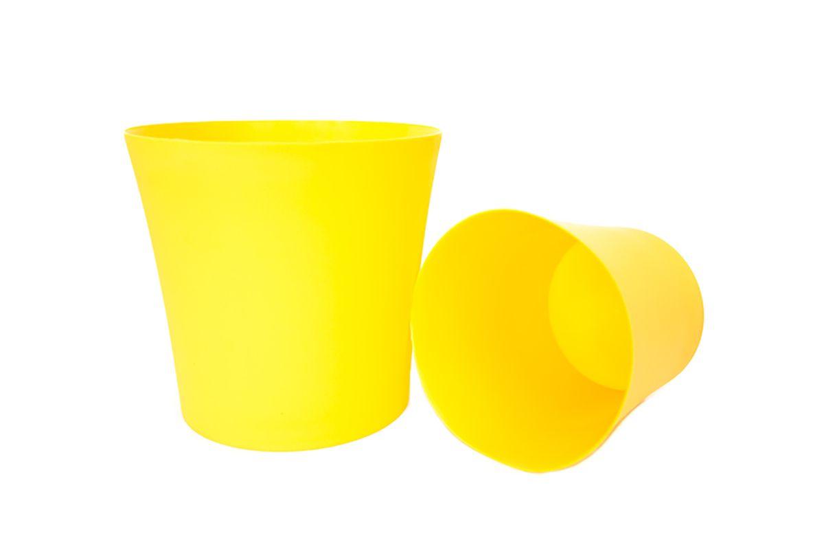 Кашпо Form-Plastic Фиолек, цвет: желтый, диаметр 12,5 см5905907204580Кашпо имеет минималистичный дизайн, подходящий под любой интерьер. Его матовая поверхность делает цвета насыщеннее и дает устойчивость к внешним воздействиям (царапины, солнечные лучи и т.д.).