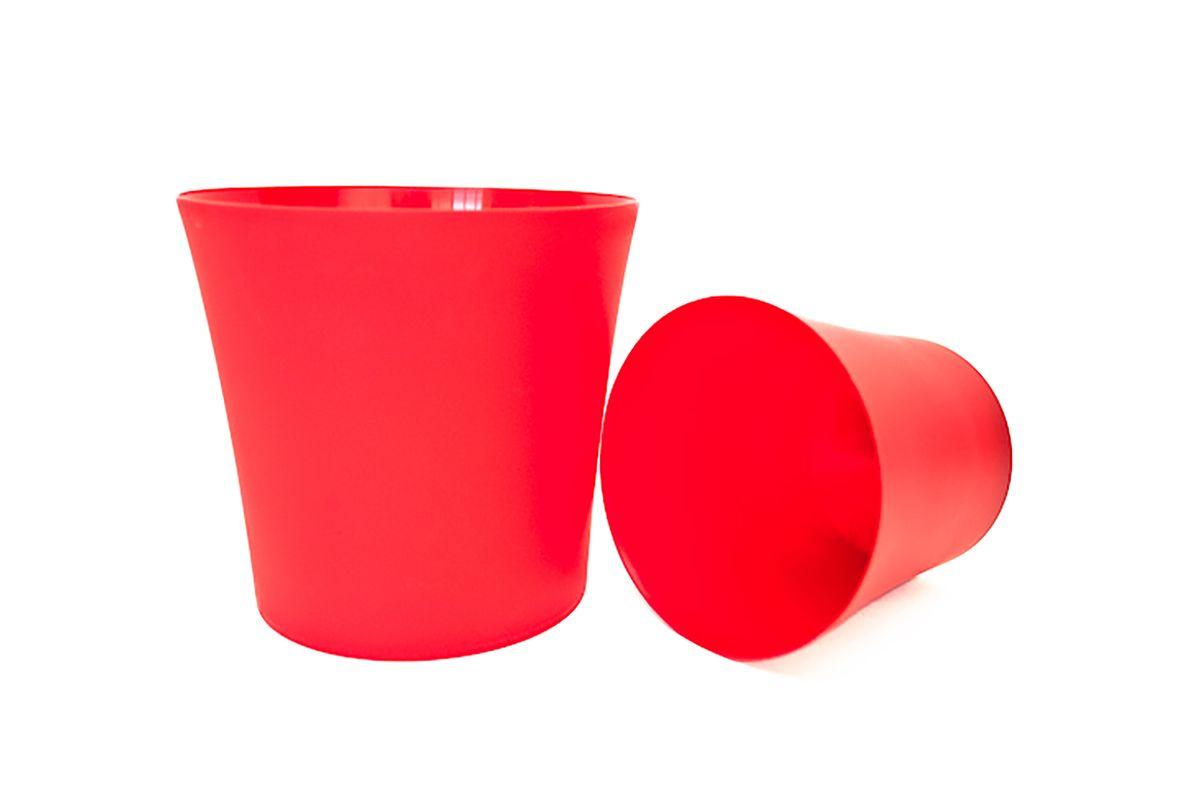 Кашпо Form-Plastic Фиолек, цвет: красный, диаметр 16 см5905907204689Кашпо имеет минималистичный дизайн, подходящий под любой интерьер. Его матовая поверхность делает цвета насыщеннее и дает устойчивость к внешним воздействиям (царапины, солнечные лучи и т.д.).
