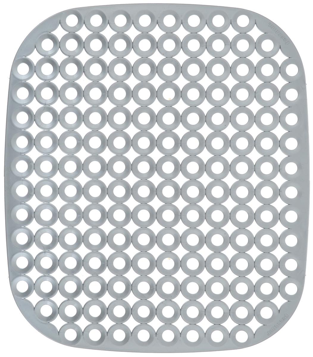 Коврик для раковины Tescoma Clean Kit, цвет: серый, 32 х 28 см900638_серыйСтильный и удобный коврик для раковины Tescoma Clean Kit выполнен из пластика. Он одновременно выполняет несколько функций: украшает, защищает мойку от царапин и сколов, смягчает удары при падении посуды в мойку, препятствует разбрызгиванию струи воды. Коврик также можно использовать для сушки посуды, фруктов и овощей. Нельзя мыть в посудомоечной машине.