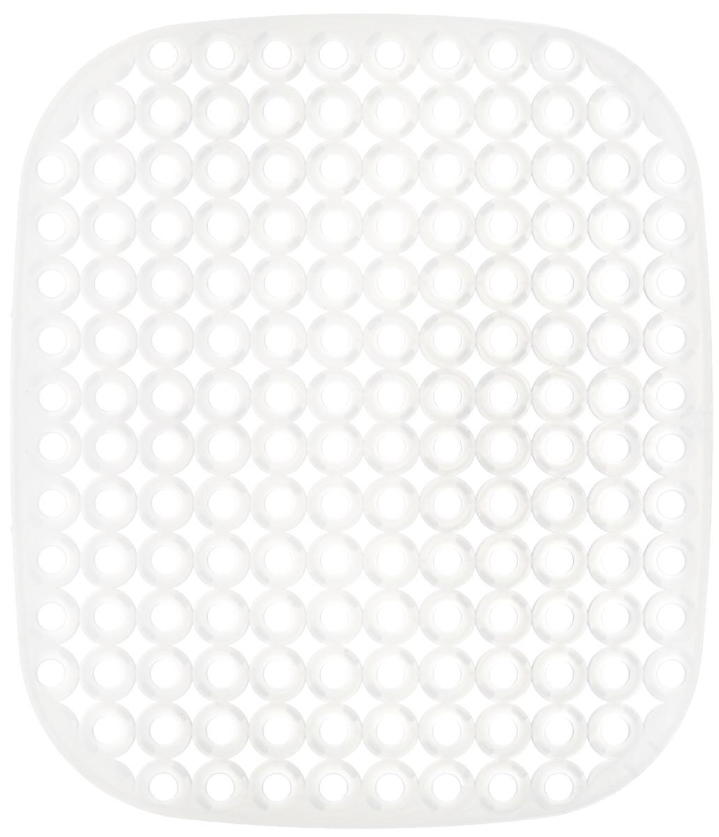 Коврик для раковины Tescoma Clean Kit, цвет: полупрозрачный, 32 х 28 см900638_полупрозрачныйСтильный и удобный коврик для раковины Tescoma Clean Kit выполнен из пластика. Он одновременно выполняет несколько функций: украшает, защищает мойку от царапин и сколов, смягчает удары при падении посуды в мойку, препятствует разбрызгиванию струи воды. Коврик также можно использовать для сушки посуды, фруктов и овощей. Нельзя мыть в посудомоечной машине.