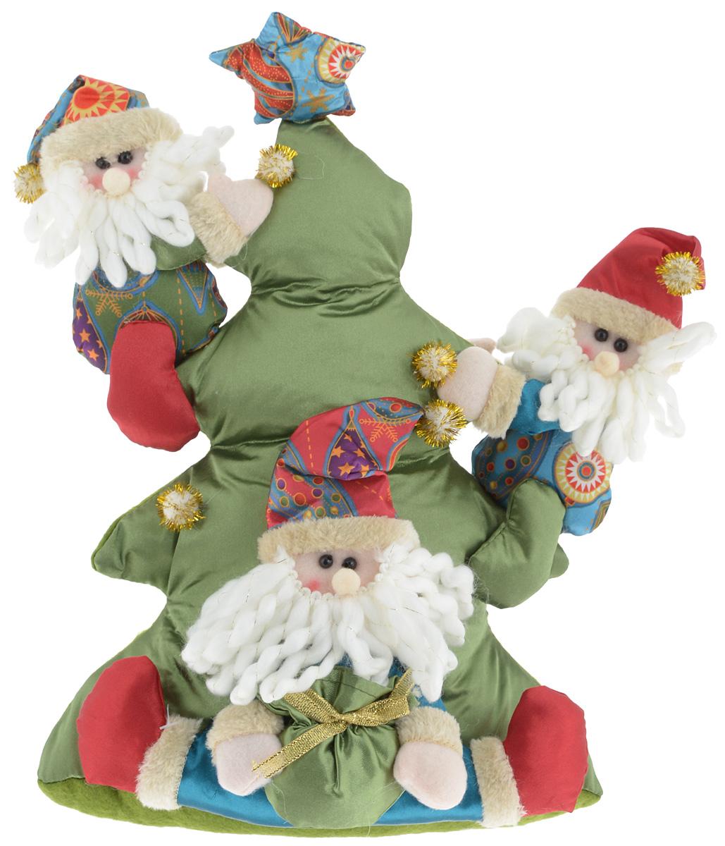 Украшение новогоднее декоративное Win Max Веселый праздник. Дед Мороз, высота 34 см175839_Дед МорозУкрашение новогоднее декоративное Win Max Веселый праздник. Дед Мороз прекрасно подойдет для праздничного декора вашего дома. Изделие выполнено из текстиля с наполнителем из синтепона в виде трех Дедов Морозов, которые карабкаются на елку. Для утяжеления и повышения устойчивости игрушки служит гранулят из полимера. Новогодние украшения несут в себе волшебство и красоту праздника. Они помогут вам украсить дом к предстоящим праздникам и оживить интерьер. Создайте в доме атмосферу тепла, веселья и радости, украшая его всей семьей. Кроме того, такая игрушка станет приятным подарком, который надолго сохранит память этого волшебного времени года.