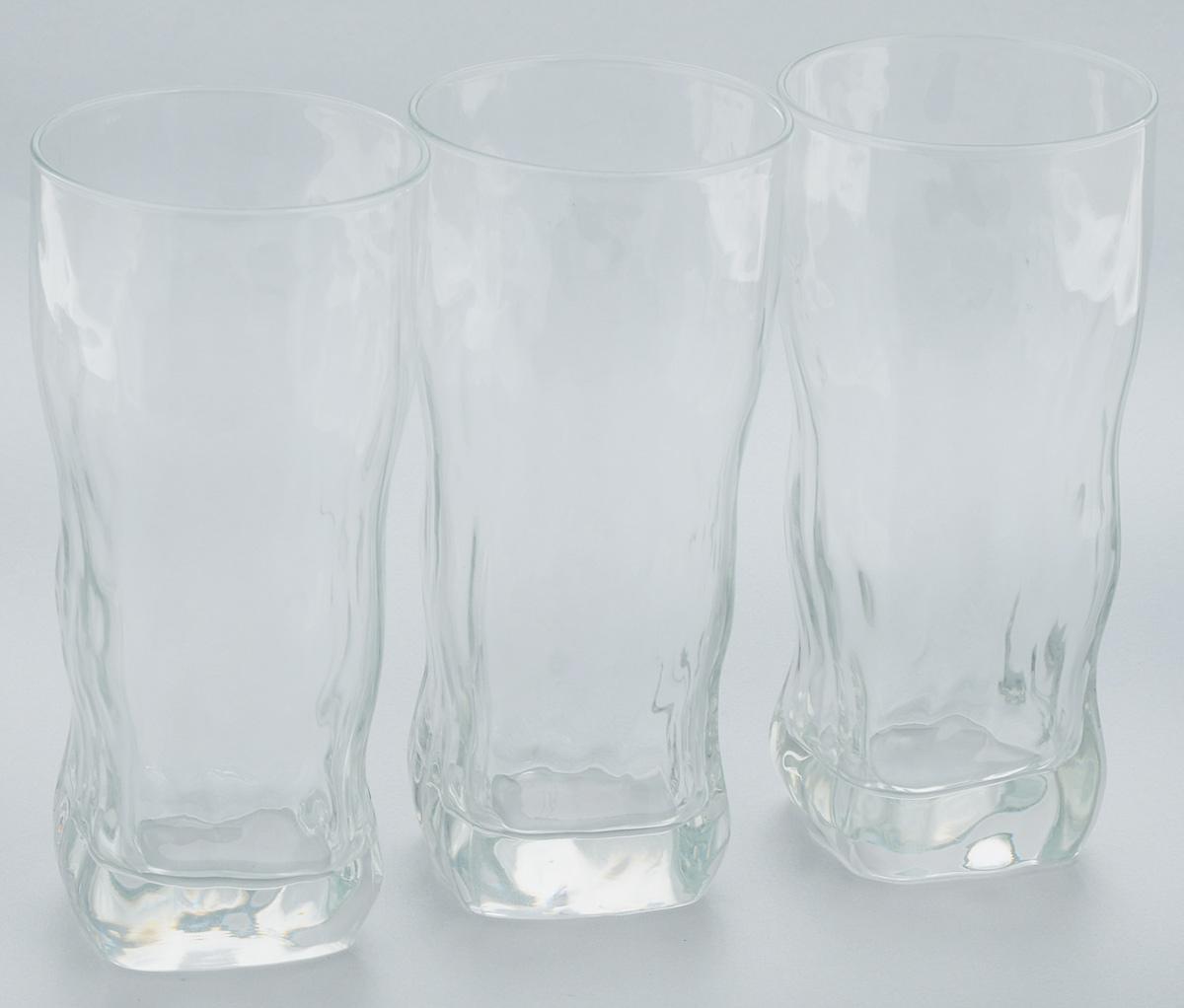 Набор стаканов Luminarc Icy, 400 мл, 3 штG2764Набор Luminarc Icy состоит из 3 стаканов, выполненных из стекла. Они отличаются особой легкостью и прочностью, излучают приятный блеск и издают мелодичный хрустальный звон. Стаканы станут идеальным украшением праздничного стола и отличным подарком к любому празднику. Можно мыть в посудомоечной машине. Диаметр стакана по верхнему краю: 7 см. Высота: 15,5 см.