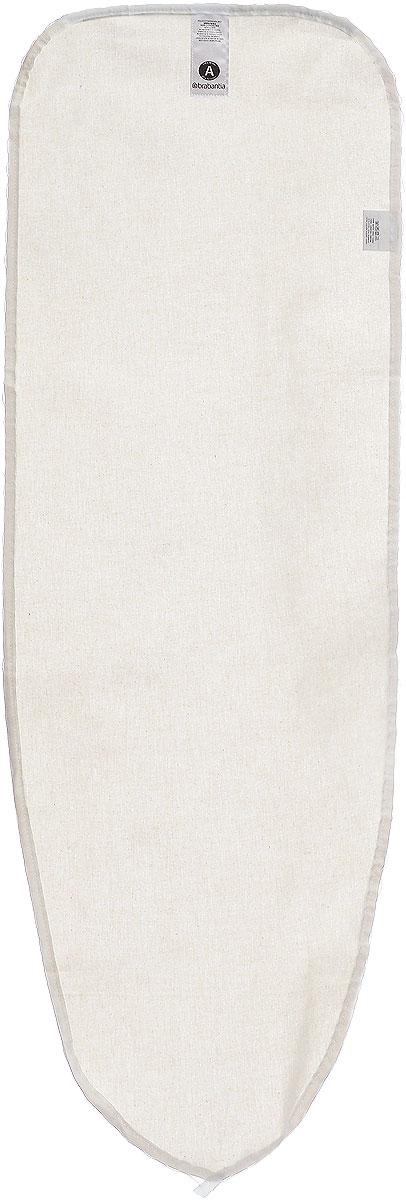 Чехол для гладильной доски Brabantia, цвет: бежевый, 110 х 30 см194825_бежевыйЧехол для гладильной доски Brabantia, выполненный из натурального хлопка, предназначен для защиты или замены изношенного покрытия гладильной доски. Чехол снабжен стягивающим шнуром, при помощи которого вы легко отрегулируете оптимальное натяжение чехла и зафиксируете его на рабочей поверхности гладильной доски. В комплекте имеются ключ для натяжения нити и резинка с крючками для лучшей фиксации чехла. Этот качественный чехол обеспечит вам легкое глажение.