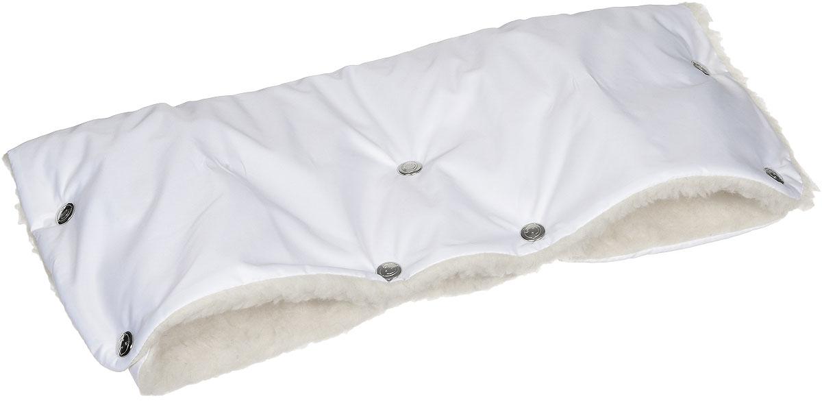 Чудо-Чадо Муфта для рук на коляску меховая цвет белый