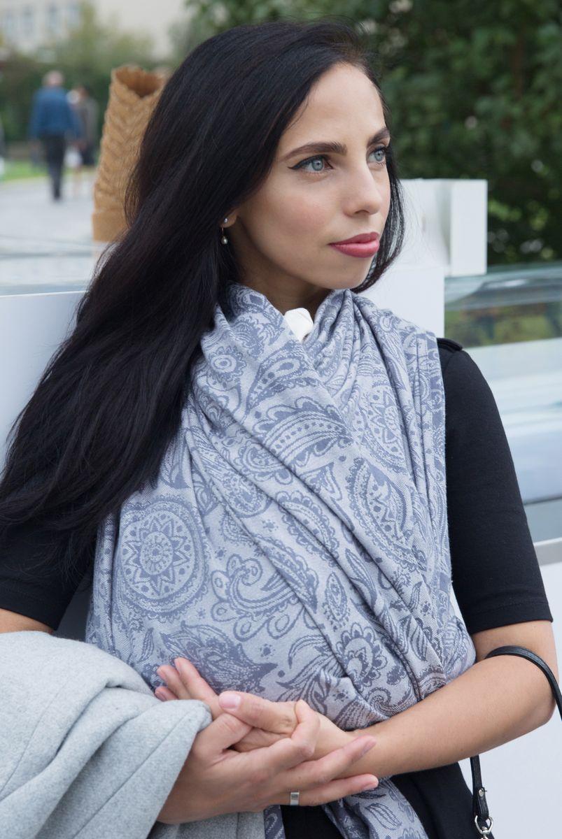 Velina Слинг-шарф Огурцы цвет серый V-wrap-pais-grey