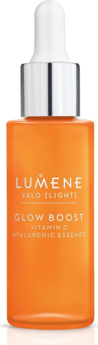 Lumene Valo Придающая сияние гиалуроновая эссенция Vitamin C, 30 млNL581-80225Концентрированная формула для глубоко увлажненной, более сияющей кожи. В ее основе лежит уникальная технология сияния*, включающая арктическую морошку, богатую антиоксидантами, и Витамин С, а также чистейшую арктическую родниковую воду и 2 типа гиалуроновой кислоты. Формула способствует естественной выработке коллагена для более ровной, сияющей кожи. Мгновенно повышает уровень увлажнения кожи на +109 %.