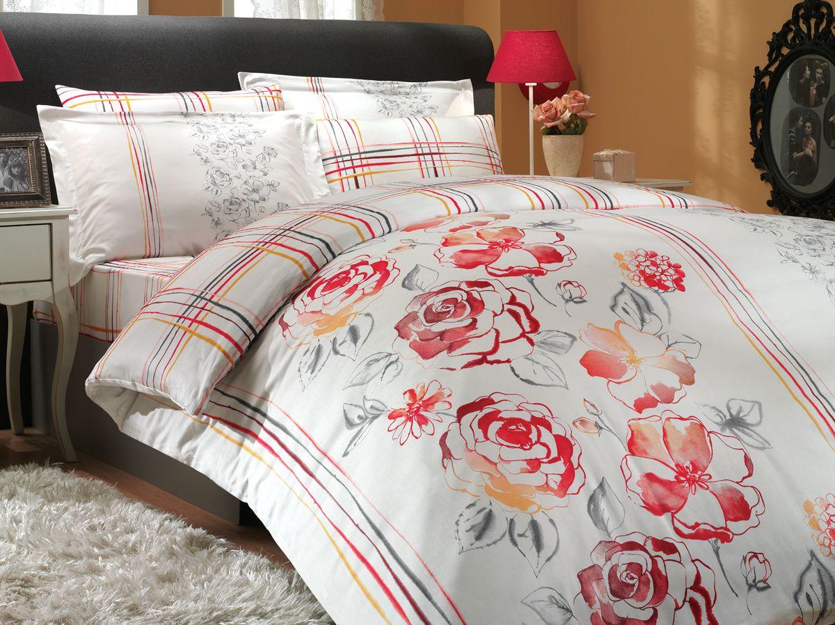 Комплект белья Hobby Home Collection Arabella, евро, наволочки 50x70, 70x70, цвет: красный1501000296Комплект белья Hobby Home Collection состоит из простыни, пододеяльника и 4 наволочек. Белье выполнено из сатина. Это блестящая и плотная ткань из 100% натурального хлопка высокого качества, изготовленная путем сложного переплетения нескольких видов нитей. Сатиновое переплетение придает тканям повышенное сопротивление к истиранию. Красивый, изысканный внешний вид, мягкость и нежность ткани позволяет сравнивать сатин с шелком. А по прочности и долговечности сатину вообще нет равных, белье из этой благородной ткани выдерживает более 200 стирок, сохраняя при этом безупречный внешний вид. Помимо своих внешних качеств, ткань отличается хорошей способностью пропускать воздух и прекрасно впитывать влагу, благодаря чему оно подойдет людям, которые не переносят синтетическую ткань и прочие материалы, смешанные с синтетикой. Белье практически не мнется и легко стирается.