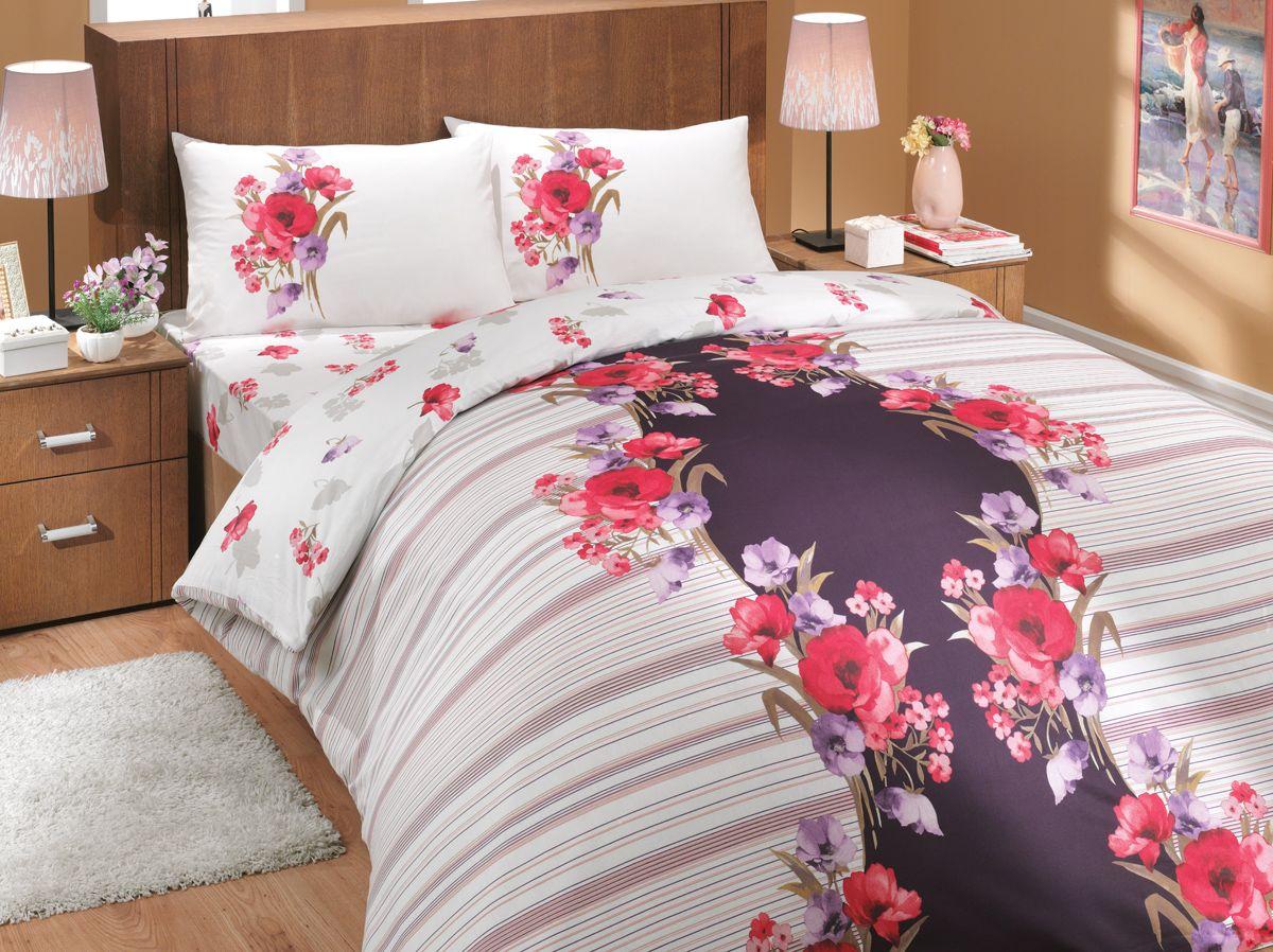 Комплект белья Hobby Home Collection Dream, 2-спальный, наволочки 70x70, цвет: лиловый1501000643Комплект белья Hobby Home Collection состоит из простыни, пододеяльника и 4 наволочек. Белье выполнено из ранфорса - это ткань из 100% натурального хлопка, которая легко стирается, практичнее льна, подстраивается под температуру воздуха - зимой на таком белье тепло, летом - прохладно. Мягкость и нежность материала создает чувство комфорта и защищенности. У хлопка хорошая проводимость тепла, поэтому постельное белье из него может надолго оставаться свежим. Постельное белье с оригинальными дизайнами станет отличным выбором для людей, стремящихся всегда быть стильными.