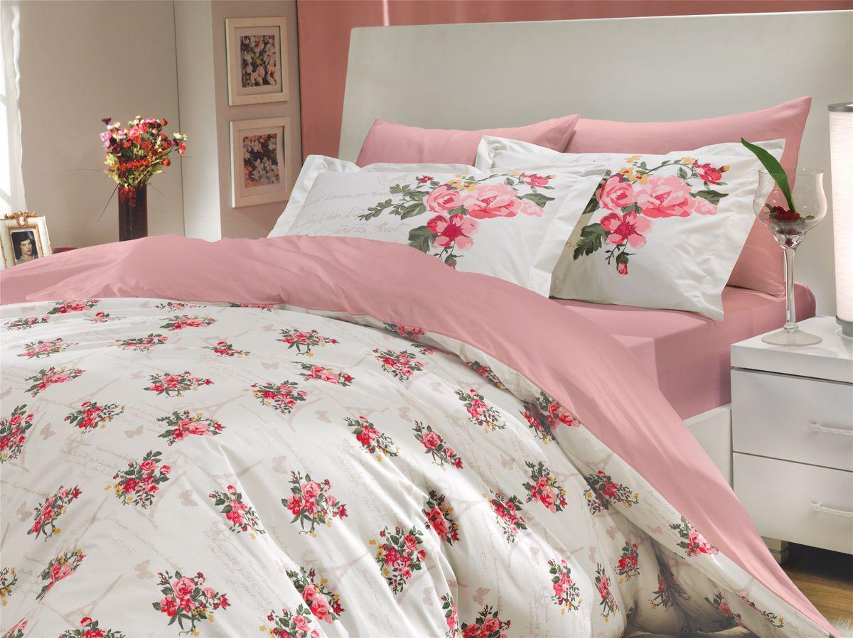 Комплект белья Hobby Home Collection Paris Spring, 2-спальный, наволочки 50х70, 70х70, цвет: розовый1501000681Комплект постельного белья Hobby Home Collection изготовлен из высококачественного поплина. Поплин - это ткань, изготавливаемая традиционным полотняным плетением из 100% хлопка, но из нитей разного калибра, за счет чего полотно получается с легким рубчиковым рельефом. По многим характеристикам ткань похожа на бязь, но на ощупь гораздо приятнее — более гладкая и мягкая. Поплин обладает лучшими свойствами ткани для постельного белья. Он плотный и в то же время мягкий на ощупь, износостойкий, немнущийся, гигроскопичный и неприхотливый в уходе, а после стирки практически не нуждается в глажке. Поплин обладает множеством преимуществ: - белье из него плотное, прочное и износостойкое; - не выцветает и не сминается; - не линяет и не деформируется (при стирке до 40°С); - натуральный хлопок в составе обеспечивает абсолютную гигиеничность постельного белья; - поплин хорошо вентилируется и впитывает влагу, отводя ее излишки от тела. По легенде этот...