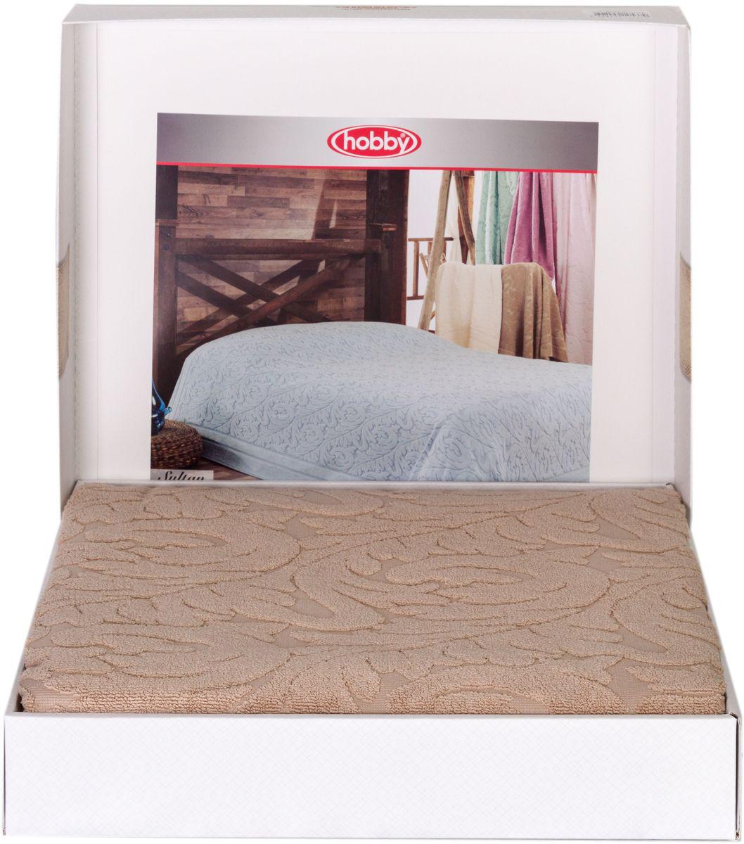 Покрывало Hobby Home Collection Sultan, 200х220см, цвет: бежевый1501001006Шикарное махровое одеяло - покрывало для лета из 100% хлопка высшей категории. Незаменимый вариант для комфортного сна летом, а так же для теплых спален в зимний период. Легкое и мягкое с красивым жаккардовым рисунком и декоративным бордюром. Оно обладает замечательными дышащими свойствами, нежное и приятное к телу, обеспечивает спокойный и здоровый сон. Данное изделие можно так же использовать в качестве покрывала или простыни. Большая подарочная коробка!