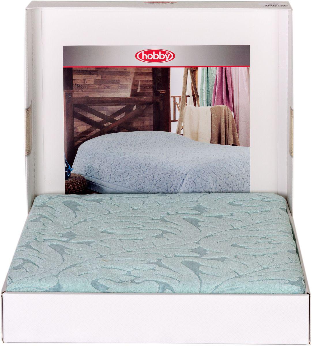 Покрывало Hobby Home Collection Sultan, цвет: ментоловый, 200 х 220 см1501001009Шикарное покрывало Hobby Home Collection Sultan изготовлено из 100% хлопка высшей категории. Оно обладает замечательными дышащими свойствами и будет хорошо смотреться как на диване, так и на большой кровати. Данное покрывало можно также использовать в качестве одеяла.