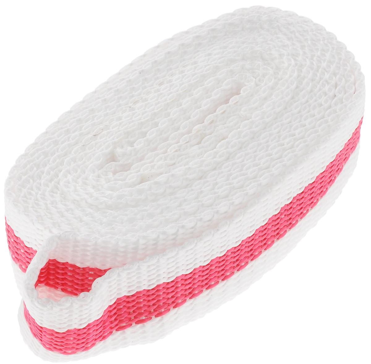 Трос буксировочный Azard, ленточный, без крюка, цвет: белый, розовый, 8 т, 4,5 мТР000014_белый,красная полосаБуксировочный трос Azard представляет собой ленту из сверхпрочной полиамидной (капроновой) нити. Специальное плетение ленты обеспечивает эластичность троса и плавный старт автомобиля при буксировке. На протяжении всего срока службы не меняет свои линейные размеры. Трос морозостойкий, влагостойкий и устойчив к агрессивным средами воздействию нефтепродуктов. Длина троса соответствует ПДД РФ. Буксировочный трос обязательно должен быть в каждом автомобиле. Он необходим на случай аварийной ситуации или если ваш автомобиль застрял на бездорожье. Максимальная нагрузка: 8 т. Длина троса: 4,5 м.