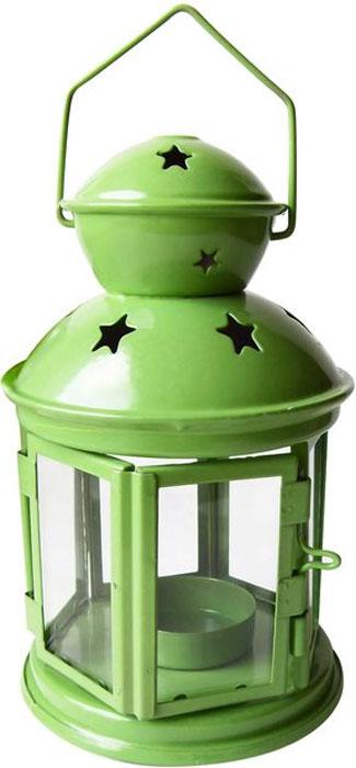 Фонарь для чайной свечи Bolsius Альтаир, цвет: зеленый, 10 х 10 х 17 см466210_зеленый