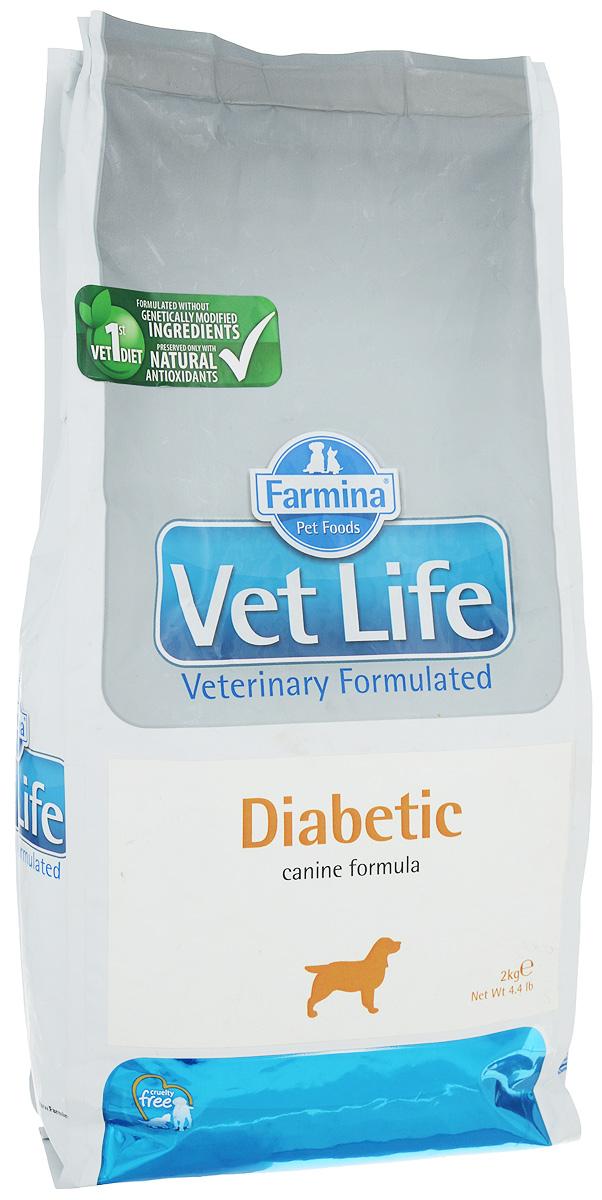 Корм сухой Farmina Vet Life для собак с сахарным диабетом, диетический, 2 кг31297Корм сухой Farmina Vet Life - диетическое питание для собак, которое разработано для контроля уровня глюкозы в крови при сахарном диабете. Высокое содержание диетической (растворимой) клетчатки поддерживает работу ЖКТ, высокое содержание нерастворимой фракции клетчатки обеспечивает чувство сытости и лимитирует прием пищи, а высокое качество сырья обеспечивает хорошую усваиваемость диеты и способствует быстрому восстановлению ослабленных пациентов. Низкая энергетическая плотность в сочетании с высоким уровнем белка и клетчатки делает диету подходящей для снижения веса у молодых пациентов. Рекомендации по кормлению: использовать по назначению ветеринарного врача. Товар сертифицирован.