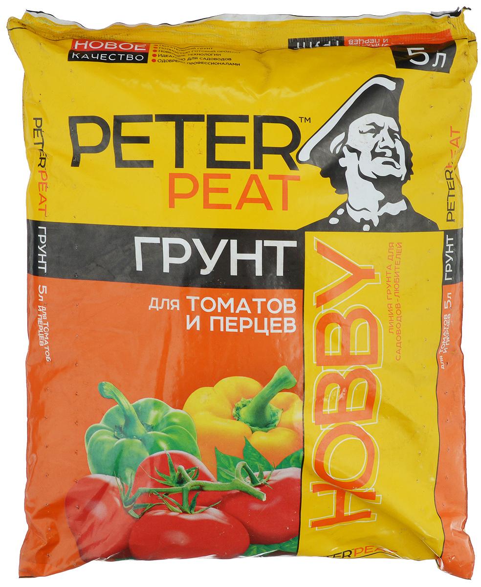 Грунт для растений Peter Peat Для томатов и перцев, 5 лХ-05-5Peter Peat Для томатов и перцев - питательный торфяной грунт. предназначен для выращивания рассады томатов, перцев, баклажанов, а также их подкормки в период роста и плодоношения. Улучшает всхожесть семян и приживаемость рассады.