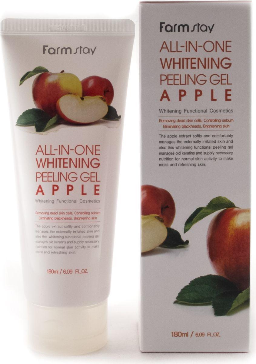 FarmStay Пиллинг гель с экстрактом яблока, 180 мл7284767Пилинг гель с экстрактом яблока обладает скатывающимся эффектом (очищает кожу лица, не царапая её), а также прекрасно очищает кожу от мертвых клеток, борется с пигментацией, нормализует выделение кожного жира, очищает поры, борется с черными точками. Насыщен гликолевой, молочной и лимонной кислотами, а также экстрактом алоэ вера. Благодаря мягкому действию очистки, гель не провоцирует раздражения. Исключается проблема механических повреждений. Данный пиллинг не содержит неприятных запахов, подходит для нормальной и жирной кожи.