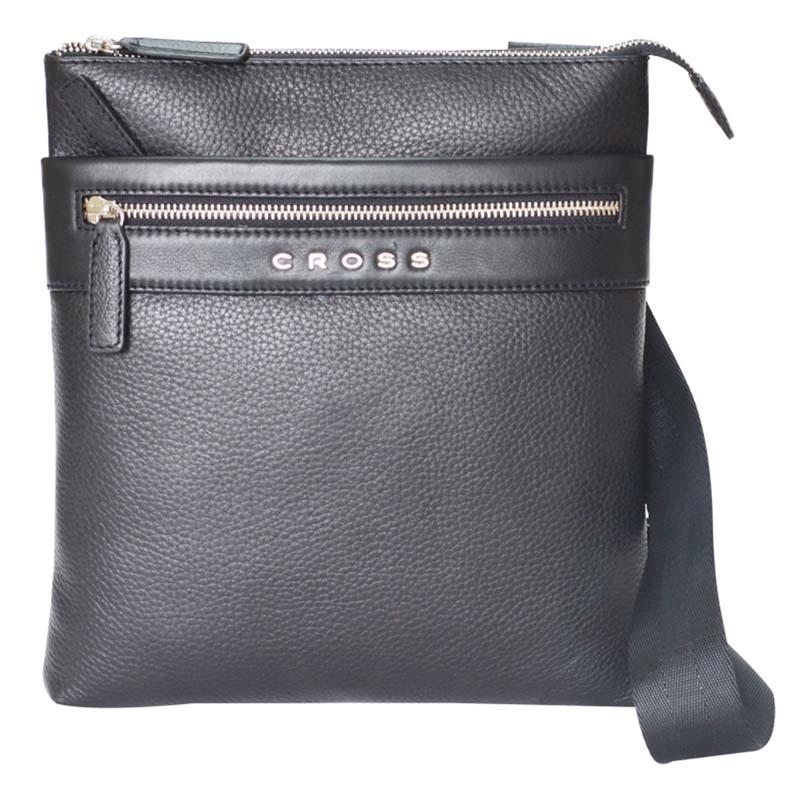 Сумка мужская Cross, цвет: черный. AC021114-1AC021114-1Сумка наплечная тонкая. Внешний карман на молнии. Задний карман на кнопке. Отделение для iPad. Одно отделение для документов.