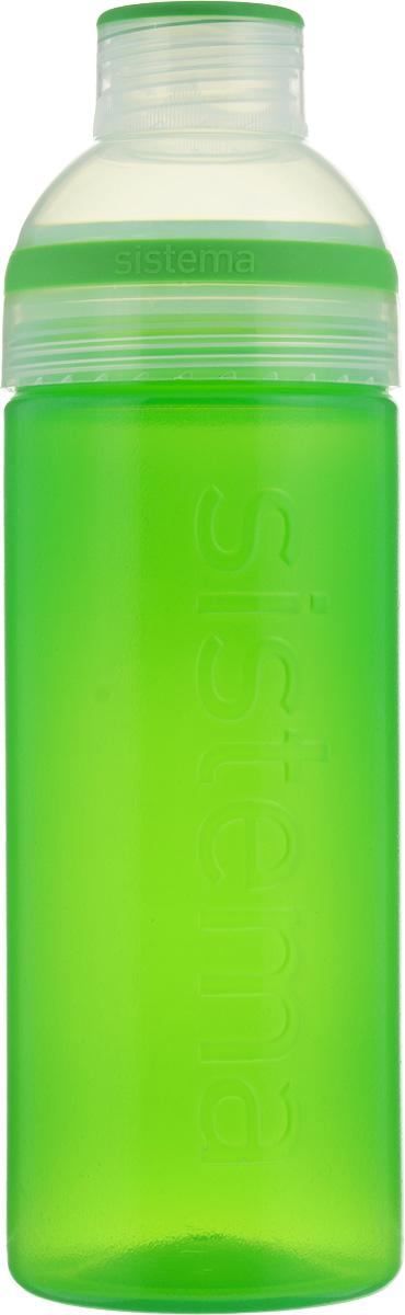 Бутылка для воды Sistema Trio, цвет: зеленый, 700 мл840_зеленыйБутылка для воды Sistema Trio изготовлена из прочного пищевого пластика без содержания фенола и других вредных примесей. Она отлично подходит для разных напитков, особенно для прохладительных со льдом. Конструкция бутылки оригинальна и хорошо продуманна. Помимо крышки, закрывающей широкое горлышко бутылки, в емкости есть еще одна отвинчивающаяся часть. Верхняя часть бутылки откручивается, позволяя поместить в емкость кубики льда или кусочки фруктов. Кроме того, эта верхняя часть может использоваться как кружка для питья. С такой бутылкой Вы сможете где угодно насладиться Вашими любимыми напитками.