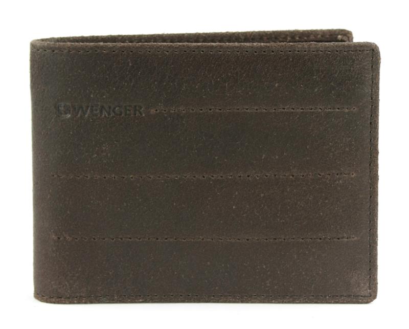 Портмоне мужское Wenger, цвет: коричневый. W29-10BRW29-10BRОригинальное портмоне, в вертикальном формате, WENGER Street Hunter W29-10BR. Высококачественная отделка воловьей кожи и надёжное крепление отсеков позволит сохранить всё содержимое в целостности и предотвратит документы и банкноты от загрязнения или деформации. Внешняя отделка портмоне представлена в коричневом цвете, имеется фирменное тиснение наименования бренда изготовителя. Портмоне вмещает 2 отделения для купюр, специальный карман для монет, отсеки под 4 пластиковые карточки или визитки. Компактный размер изделия – 12х9х1 см, позволяет его удобно хранить в кармане одежды.