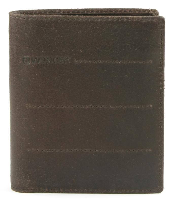 Портмоне мужское Wenger, цвет: темно-коричневый. W29-13BRW29-13BRПортмоне Wenger выполнено из натуральной кожи и оформлено тиснением с названием бренда. Внутри расположено два отделения для купюр, отделение для мелочи, сетчатый карман для пропуска и четыре отсека для документов. Также внутри находятся восемь карманов для хранения банковских и дисконтных карт.