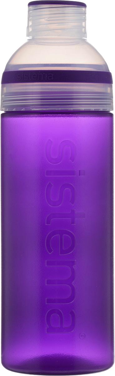 Бутылка для воды Sistema Trio, цвет: фиолетовый, 700 мл840_фиолетовыйБутылка для воды Sistema Trio изготовлена из прочного пищевого пластика без содержания фенола и других вредных примесей. Она отлично подходит для разных напитков, особенно для прохладительных со льдом. Конструкция бутылки оригинальна и хорошо продуманна. Помимо крышки, закрывающей широкое горлышко бутылки, в емкости есть еще одна отвинчивающаяся часть. Верхняя часть бутылки откручивается, позволяя поместить в емкость кубики льда или кусочки фруктов. Кроме того, эта верхняя часть может использоваться как кружка для питья. С такой бутылкой вы сможете где угодно насладиться вашими любимыми напитками.