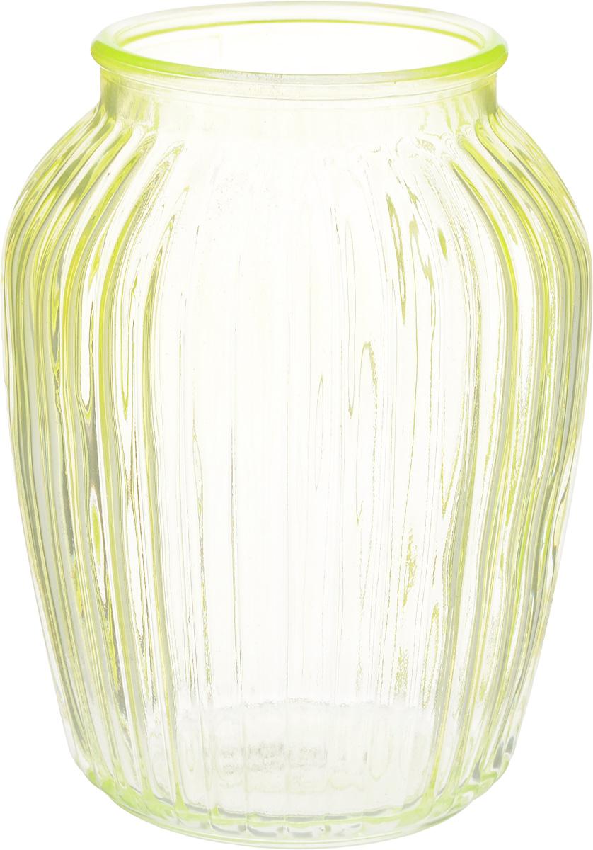 Ваза Nina Glass Луана, цвет: салатовый, высота 20,5 смNG92-021M_салатовыйВаза Nina Glass Луана выполнена из высококачественного стекла. Изделие имеет изысканный внешний вид и рельефную поверхность. Такая ваза станет ярким украшением интерьера и прекрасным подарком к любому случаю. Не рекомендуется мыть в посудомоечной машине. Диаметр вазы (по верхнему краю): 10 см. Высота вазы: 20,5 см.
