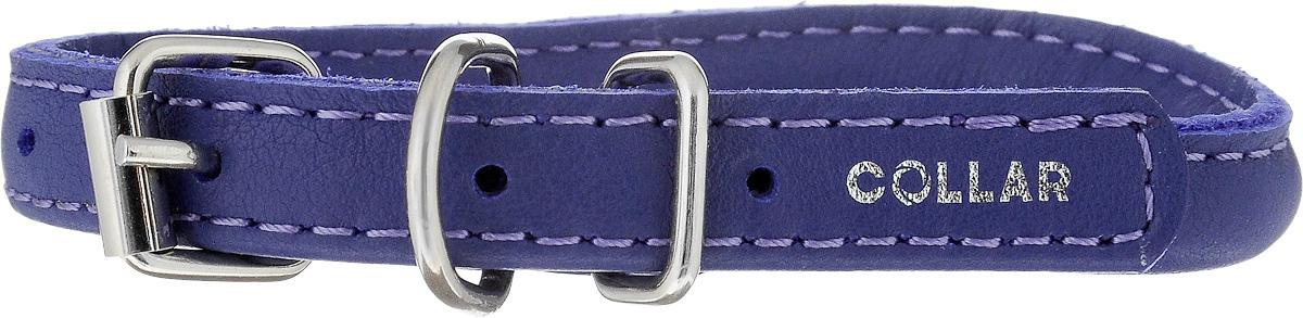 Ошейник для собак CoLLaR Glamour, цвет: фиолетовый, ширина 8 мм, толщина 6 мм, обхват шеи 20-25 см22409Ошейник CoLLaR Glamour изготовлен из натуральной кожи, устойчивой к влажности и перепадам температур. Клеевой слой, сверхпрочные нити, крепкие металлические элементы делают ошейник надежным и долговечным. Изделие отличается высоким качеством, удобством и универсальностью. Размер ошейника регулируется при помощи металлической пряжки. Имеется металлическое кольцо для крепления поводка. Ваша собака тоже хочет выглядеть стильно! Модный ошейник с уплотнением по всей длине не только не будет натирать шею вашему любимцу, но и станет для питомца отличным украшением и выделит его среди остальных животных. Минимальный обхват шеи: 20 см. Максимальный обхват шеи: 25 см. Ширина: 8 мм. Толщина: 6 мм.