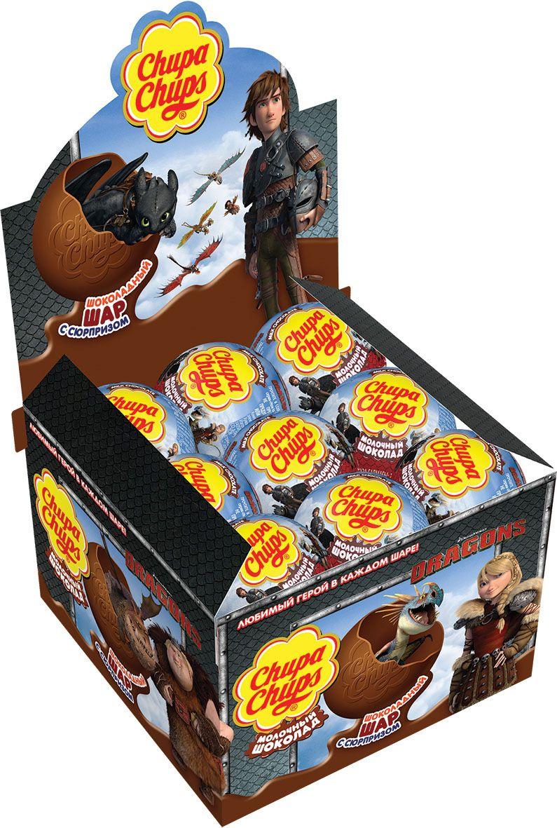 Chupa Chups Как приручить дракона-2 молочный шоколад, 18 шт по 20 г8253170Внутри каждого шоколадного шара Чупа Чупс ты найдёшь новую игрушку, а снаружи - именно такой шоколад, как ты любишь. Какая игрушка попадётся тебе в этот раз??? Соберите всю коллекцию и обменивайтесь с друзьями!