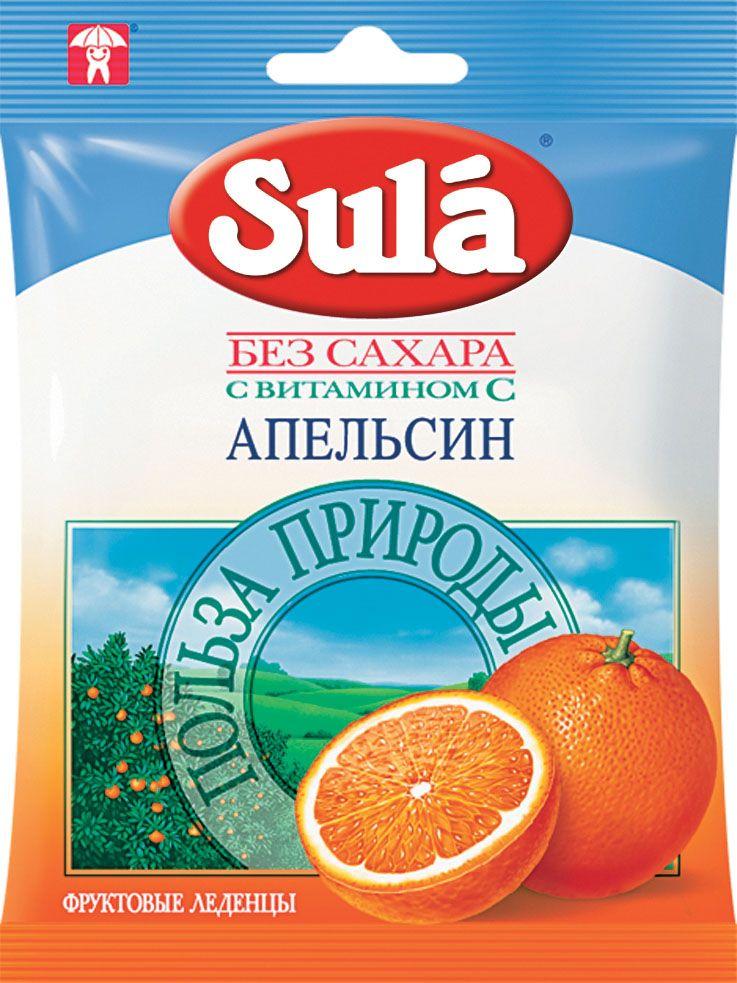 Sula Апельсин фруктовые леденцы ,60 г8250580Апельсины — самый популярный источник витамина С, полезны для работы сердца, оказывают омолаживающее действие и активизируют работу организма.