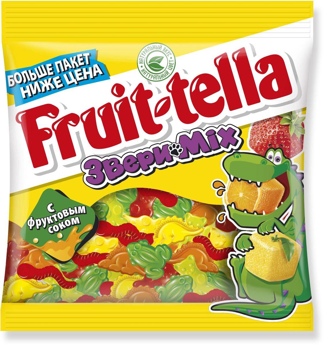 Fruittella Звери Mix жевательный мармелад, 150 г 8253012
