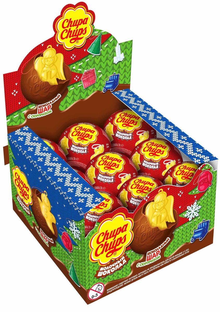 Chupa Chups Новый год молочный шоколад, 18 штук по 20 г8253216Внутри каждого шоколадного шара Чупа Чупс Ты найдёшь новую игрушку, а снаружи - именно такой шоколад, как Ты любишь. Какая игрушка попадётся Тебе в этот раз??? Соберите всю коллекцию и обменивайтесь с друзьями!