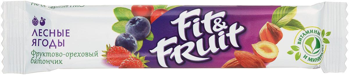 Fit&Fruit Фруктово-ореховый батончик со вкусом лесных ягод, 40 г 1508006